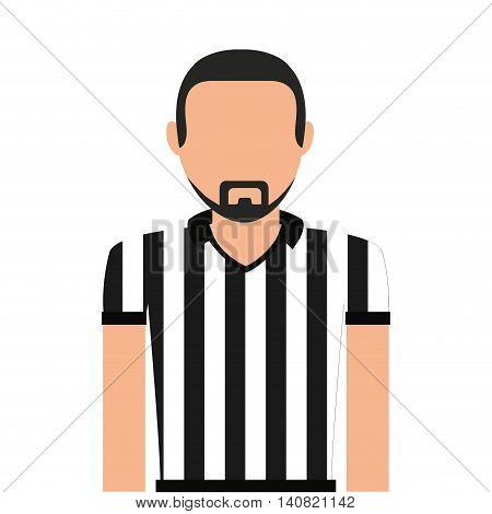 referee man person icon vector illustration design