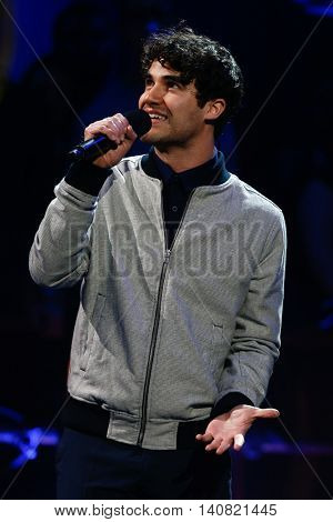 NEW  YORK-NOV 13: Actor Darren Criss on stage during VH1's 2nd Annual 'You Oughta Know Live In Concert' 2014 at Hammerstein Ballroom on November 13, 2014 in New York City.