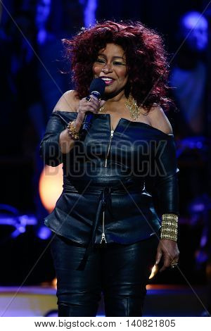 NEW  YORK-NOV 13: Singer Chaka Khan on stage during VH1's 2nd Annual 'You Oughta Know Live In Concert' 2014 at Hammerstein Ballroom on November 13, 2014 in New York City.