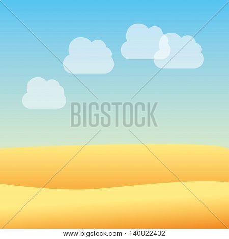 desert landscape beautiful icon vector illustration design