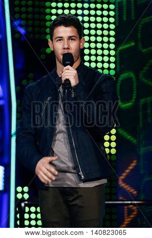 NEW  YORK-NOV 13: Nick Jonas on stage during VH1's 2nd Annual 'You Oughta Know Live In Concert' 2014 at Hammerstein Ballroom on November 13, 2014 in New York City.