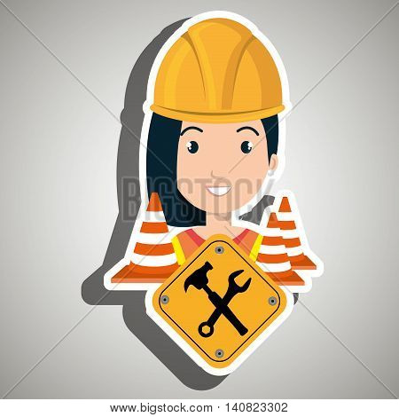 web site construction drill vector illustration graphic