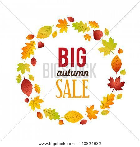 Autumn Sales Banner. Can be used for advertising purposes, for flyers, leaflets and posters.