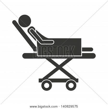 stretcher hospital emergency icon vector illustration design