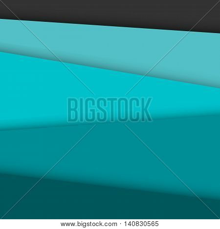Green overlap layer paper material design, stock vector
