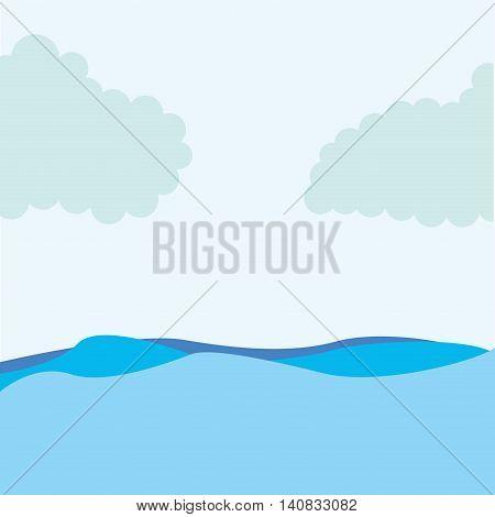 seascape water sky icon vector illustration design