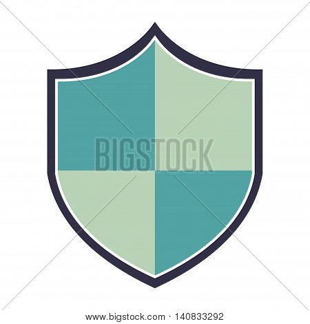 shield guard security icon vector isolated design