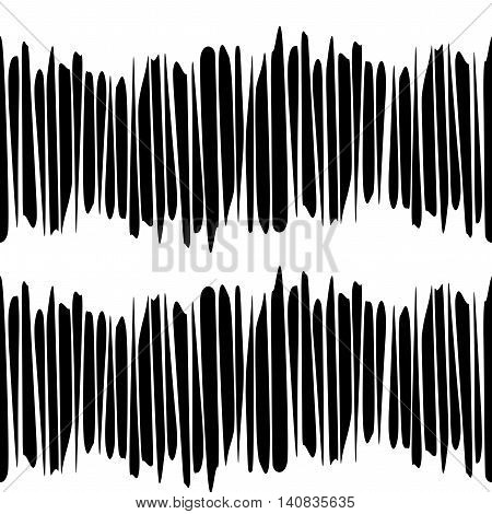 Textile black and white print. Hand drawn seamless pattern. Design element for fabric, textile, wrapping paper.