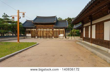 Namsangol Hanok village, the traditional Korean village in Seoul, South Korea
