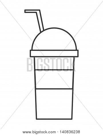 flat designn cold drink cup icon vector illustration