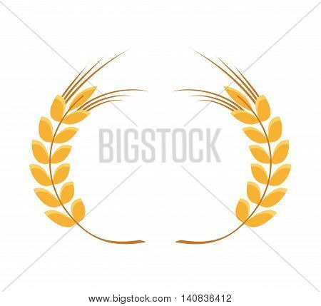 spike leaf frame icon vector isolated graphic