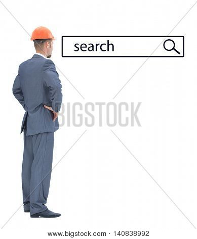 Architect looking at search line