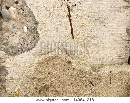 Cracked concrete wall use for texture background