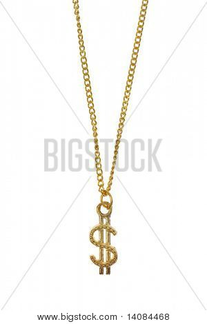 Dollar Sign Gold Necklace