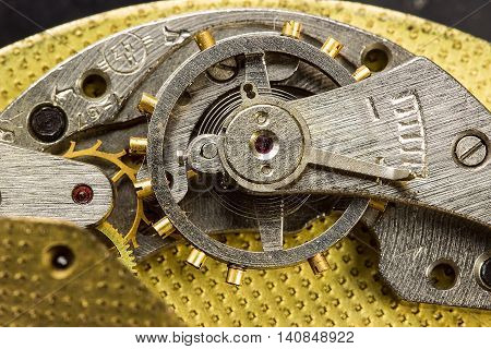 Close-up Mechanism Of Old Watch