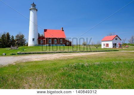 Tawas Point Lighthouse, built in 1876, Lake Huron, Michigan, USA