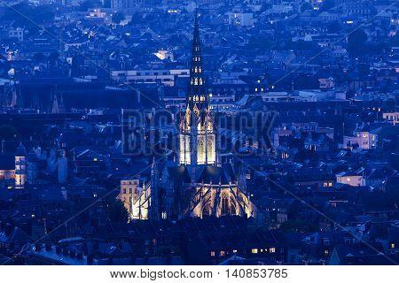 Abbey church of Saint-Ouen in Rouen. Rouen Normandy France