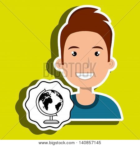 woman happy face vector illustration eps 10