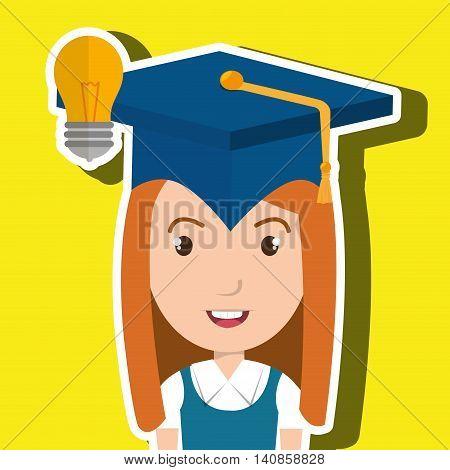 student graduation cap idea vector illustration eps 10