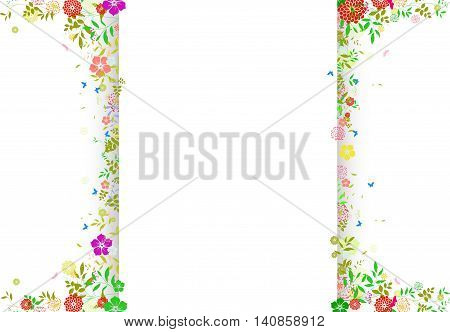 vintage background with floral for you design