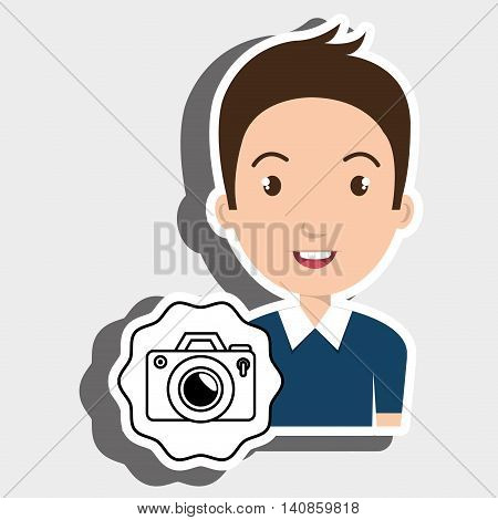 student graduation camera photos vector illustration eps 10