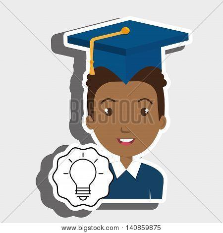 student graduation cap vector illustration eps 10