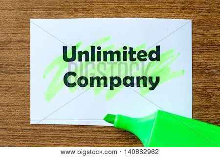 Unlimited Company