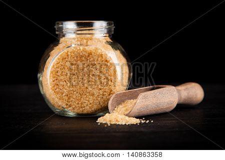 Brown unrefined sugar