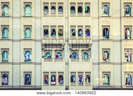 Residential house facade in Bur Dubai, UAE