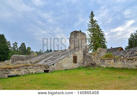 The ruins of the monastery in Slovak Paradise National Park.