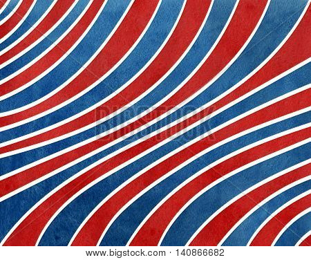 Watercolor Dark Blue And Dark Red Striped Background.