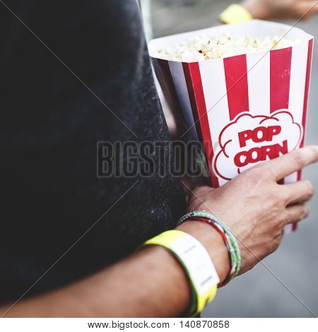 Pop-Corn Amusement Happiness Relaxation Concept