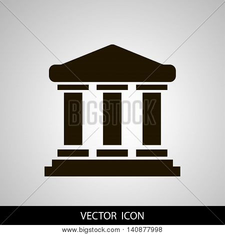 University icon vector solid illustration pictogram isolated on grey