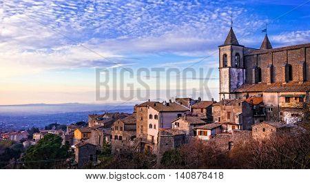 San Martino al Cimino - medieval town in Viterbo province, Italy