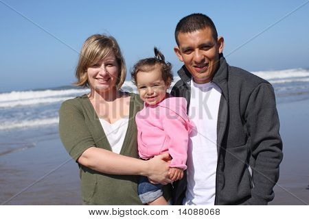Family portrait at beach