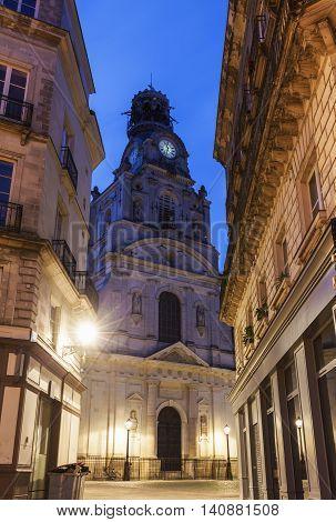 St Cross Church in Nantes. Nantes Pays de la Loire France
