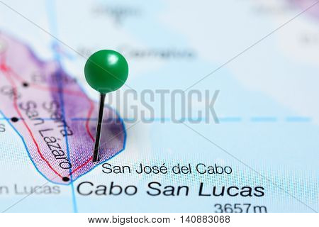 San Jose del Cabo pinned on a map of Mexico