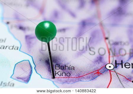 Bahia Kino pinned on a map of Mexico
