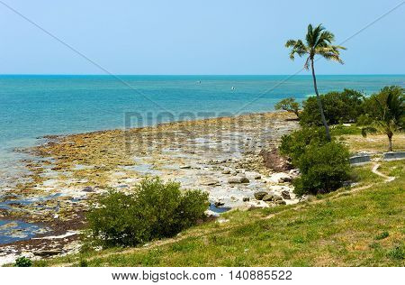 Beach of one of the Florida Keys