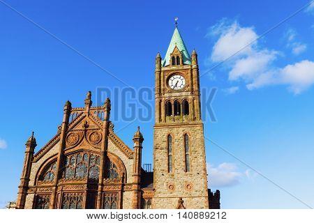 Guildhall in Derry. Derry Northern Ireland United Kingdom.