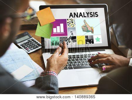 Analysis Analyze Data Information Insight Report Concept