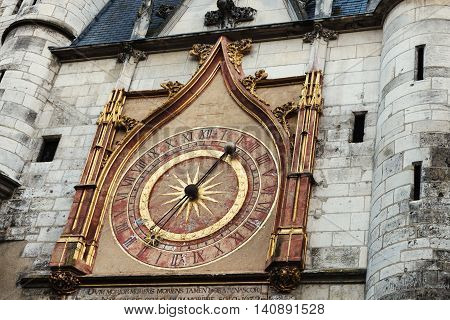 Famous Auxerre Clock Tower. Auxerre Burgundy France