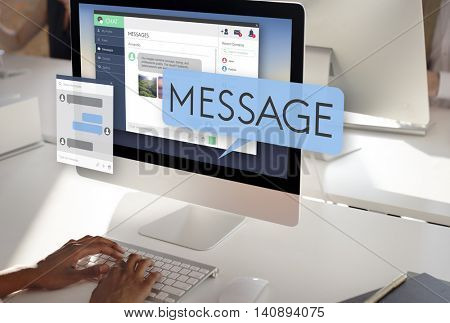 Online Message Email Digital Chatting Concept