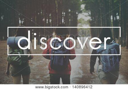 Discover Excursion Exploration Travel Trek Trip Concept