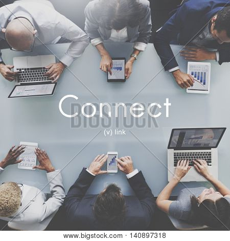 Connect Link Communication Contact Network Concept