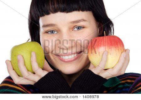 Adolescent With Apples