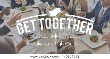 Get Together Family Teamwork Support Friendship Concept