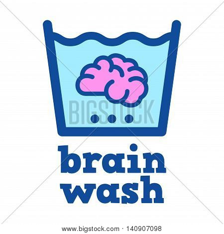 Vector stock of a brain soaked in water brain washing
