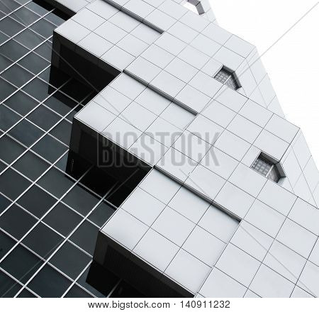 abstract architecture of a modern building skyscraper