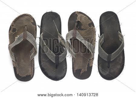 Men's beach sandals on a white background.